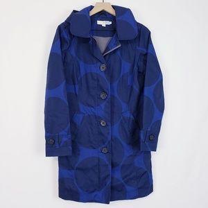 Boden Rain Coat MAC Trench Rainy Day Blue sz 6